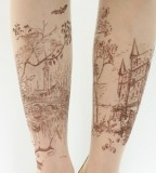 Fairyt tale landscape tattoo