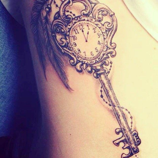 Fairytale key tattoo