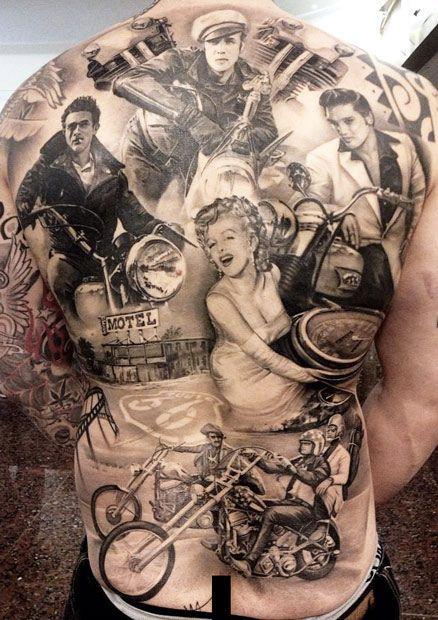 Famous tattoo by Matteo Pasqualin