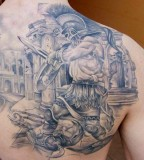 Fight tattoo by Miroslav Pridal