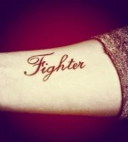 Fighter tattoo