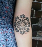 Flower pattern tattoo