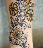 Flowers tattoo by David Hale