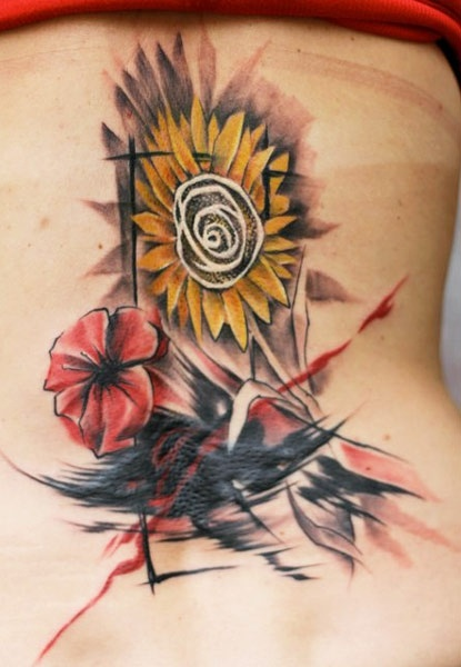Flowers tattoo by Miroslav Pridal
