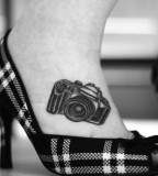Foot camera tattoo