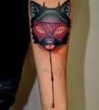 Fox tattoo by Marcin Aleksander Surowiec