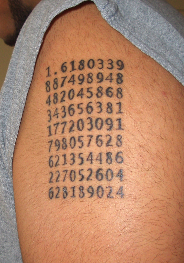 Goldern ratio tattoos