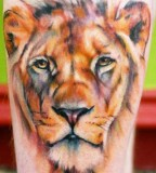 Gorgeous tiger tattoo