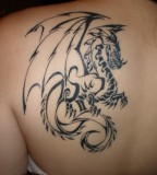 Graffiti dragon tattoo