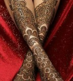 Great Mehendi design on legs