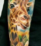 Great giraffe tattoo