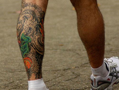 Guys colorful tattoo