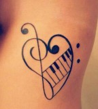 Heart and music tattoo