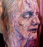 Horror tattoo by Miroslav Pridal