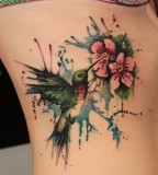 Humming bird tattoos