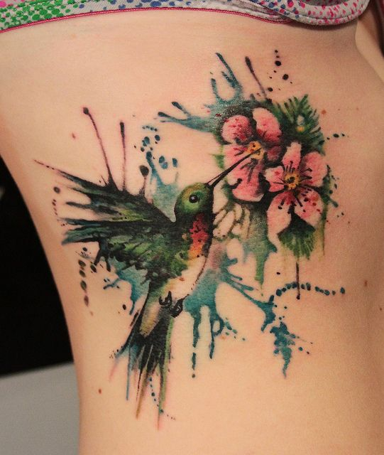 Humming bird tattoos