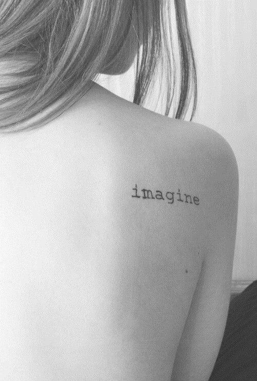 Imagine shoulder tattoo