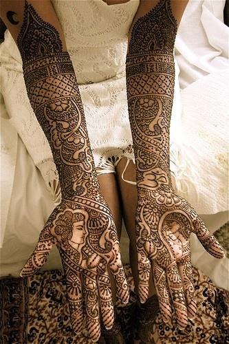 Indian bride tattoos