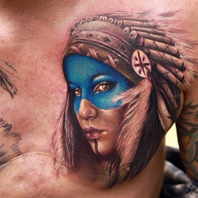 Indian tattoo by Rich Pineda