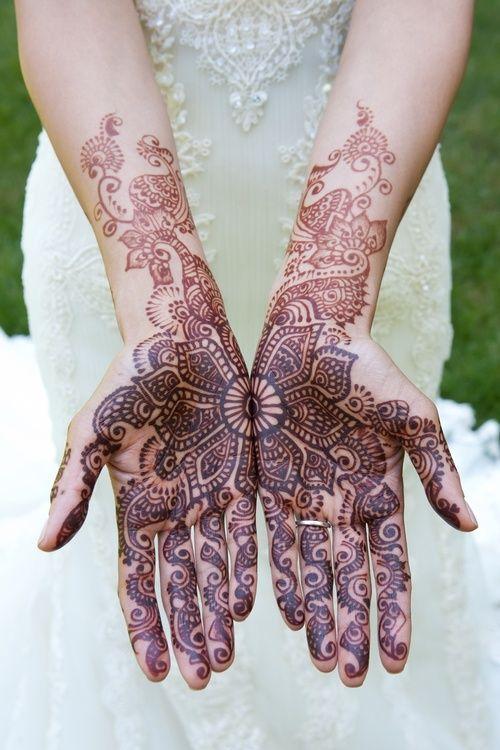 Indian wedding bride tattoos design