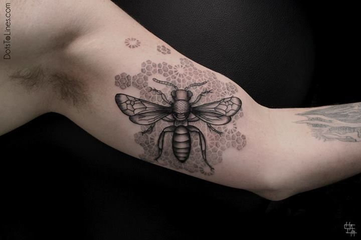 Insect tattoo by Chaim Machlev