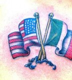 International flag tattoo
