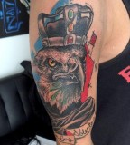 King eagle tattoo