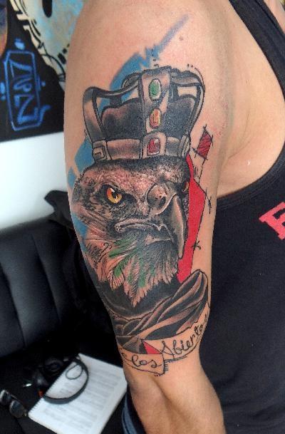 King eagle tattoo
