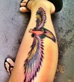 Leg eagle tattoo