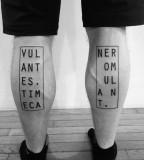 Legs tattoo by Ben Volt