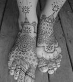 Lines tattoos on foots