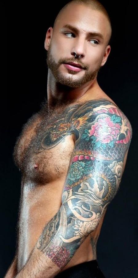 Man dragon tattoo