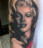 Marilyn Monroe tattoo by Matteo Pasqualin