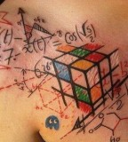 Math numbers tattoo