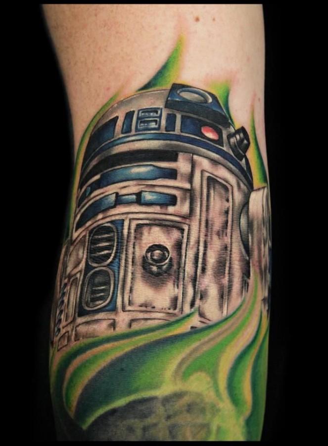 Mechanism tattoo by Rich Pineda