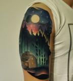 Nature tattoo by Marcin Aleksander Surowiec