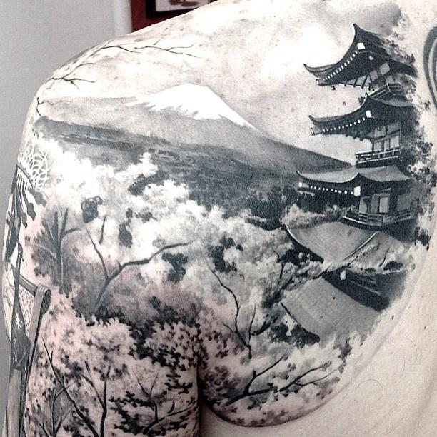 Nature tattoo by Matteo Pasqualin