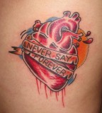 Never say forever tattoo