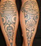 Ornament tatto on leg
