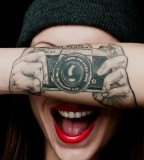 Pentax camera tattoo
