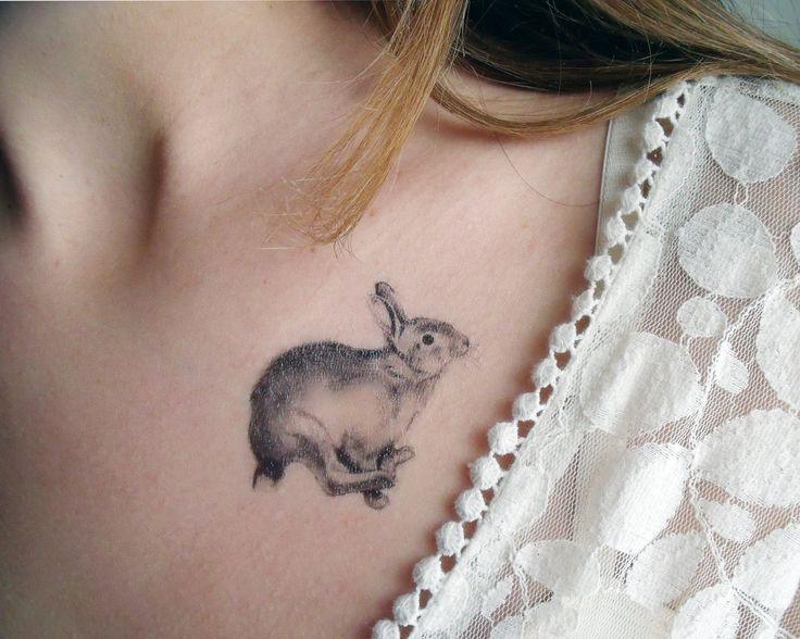 Pretty rabbit tattoo