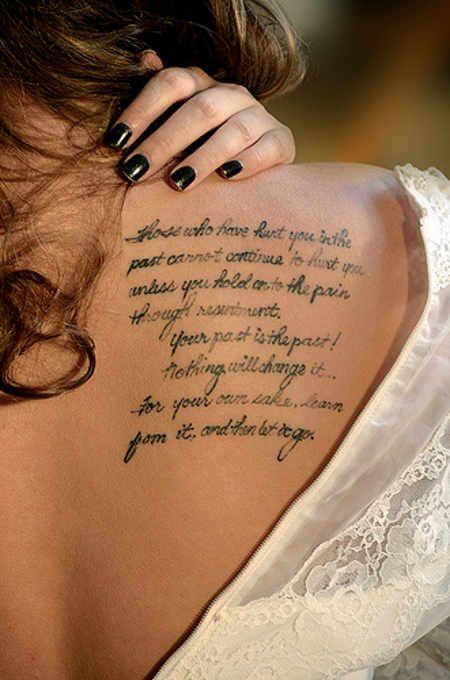 Quite on shoulder tattoo