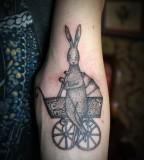 Rabbit tattoo by Andrey Svetov