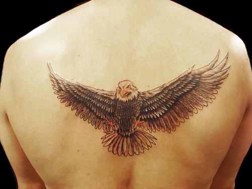 Realisti eagle tattoo