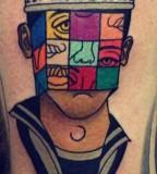 Sailor tattoo by Marcin Aleksander Surowiec