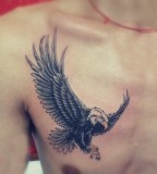 Simple eagle tattoo