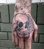 Skull tattoo by Philippe Fernandez