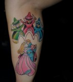 Sleeping beauty fairy tale tattoo