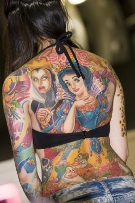 Snowdrop fairy tale tattoo