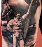 Soldier tattoo by Matteo Pasqualin